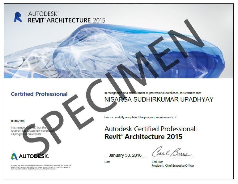 revit-architecture-certificate-specimen | Sai CAD Centre
